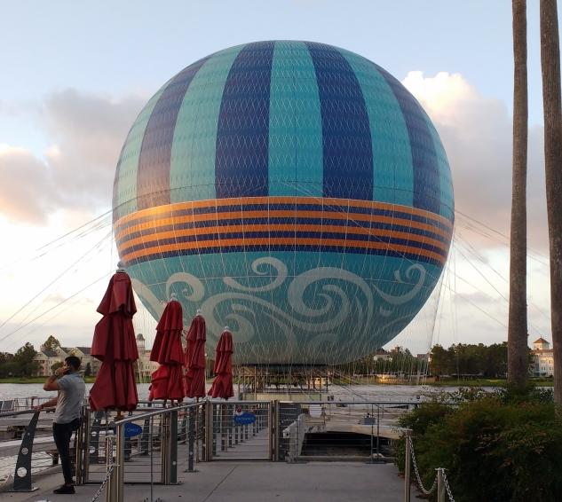 Passeio de balão em Disney Springs