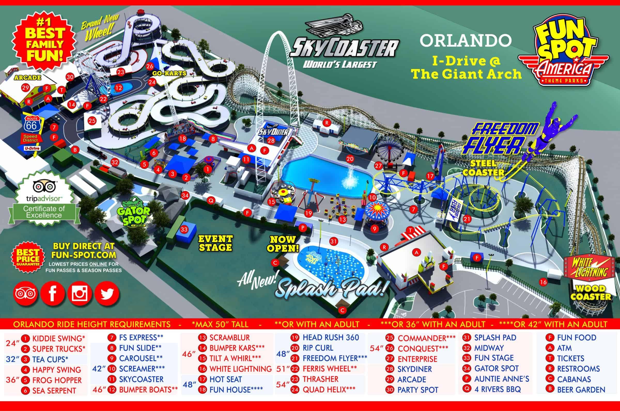 mapa fun spot america international drive