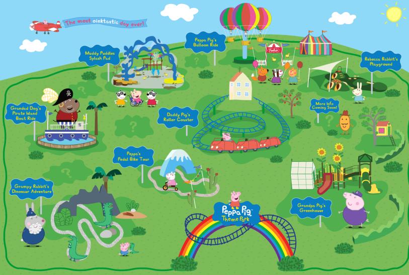 mapa parque da peppa
